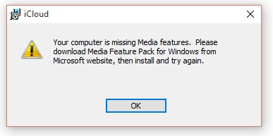 Missing Media Feature Pack Windows 10 x64… - Apple Community