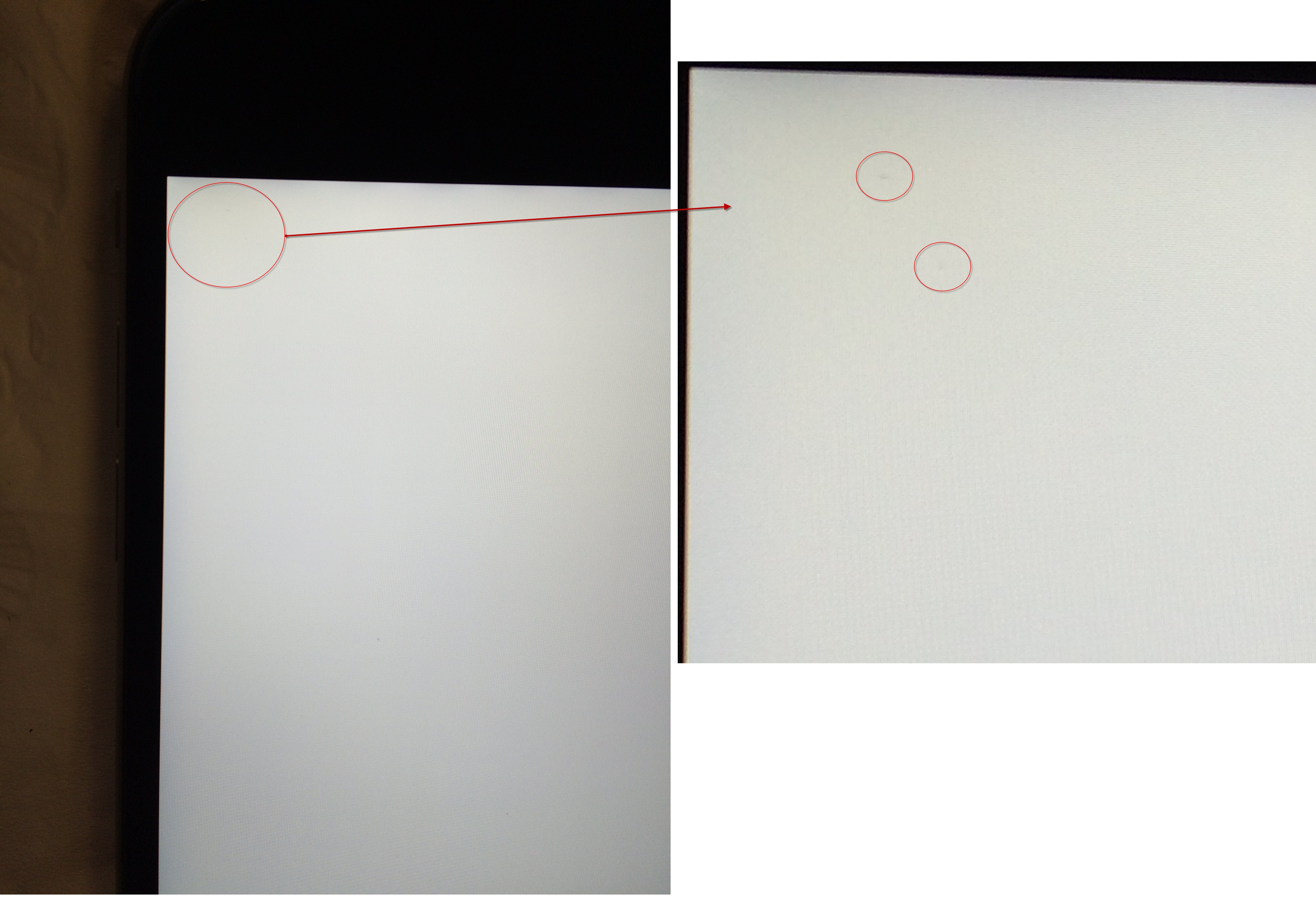 iPhone 6s Plus dead pixel (black dots) - Apple Community