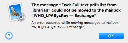 Error moving messages in Mail to exchange… - Apple Community