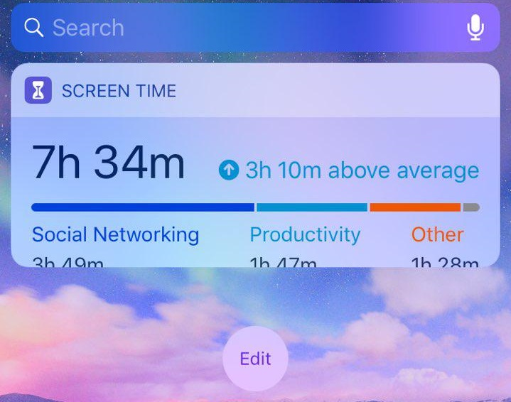 iOS 12 1 1 - screen time widget does not … - Apple Community