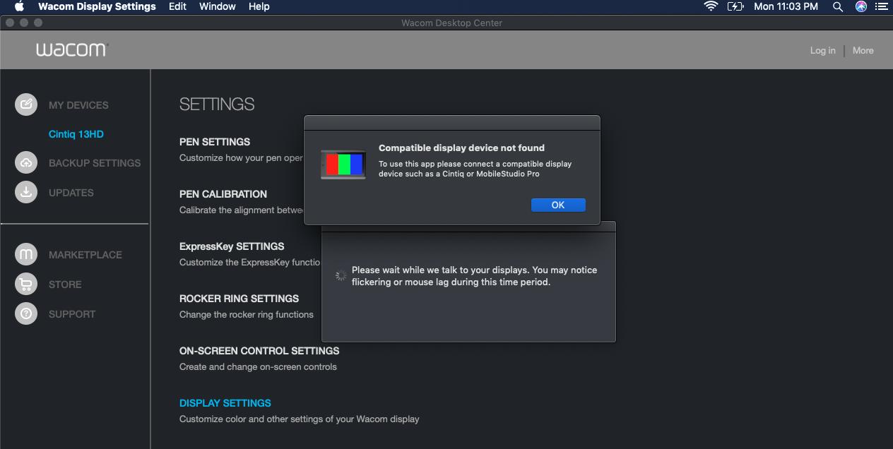 Wacom Cintiq 13HD Touch VS Mojave OS - Apple Community