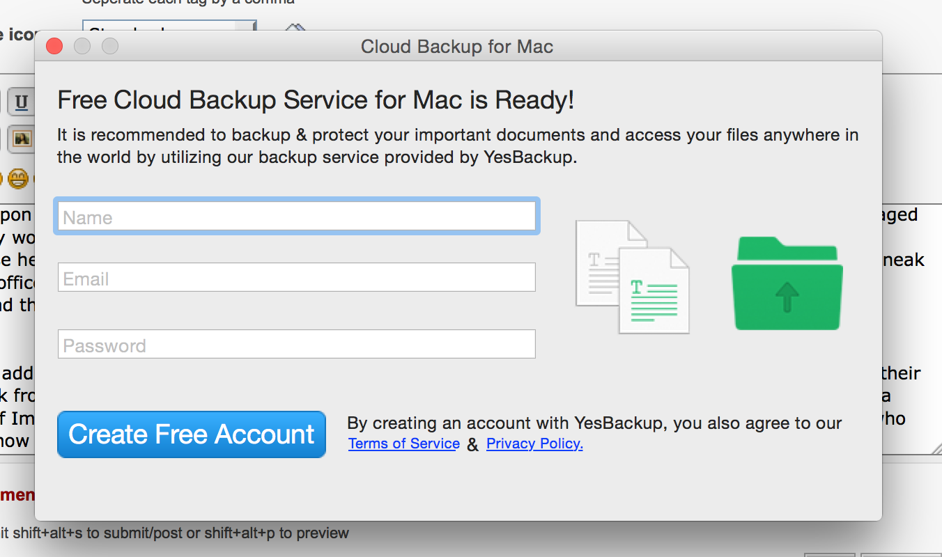 cloud backup for mac remove