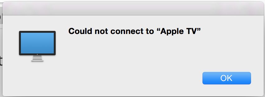 Could not connect to Apple TV (2015) on Y… - Apple Community