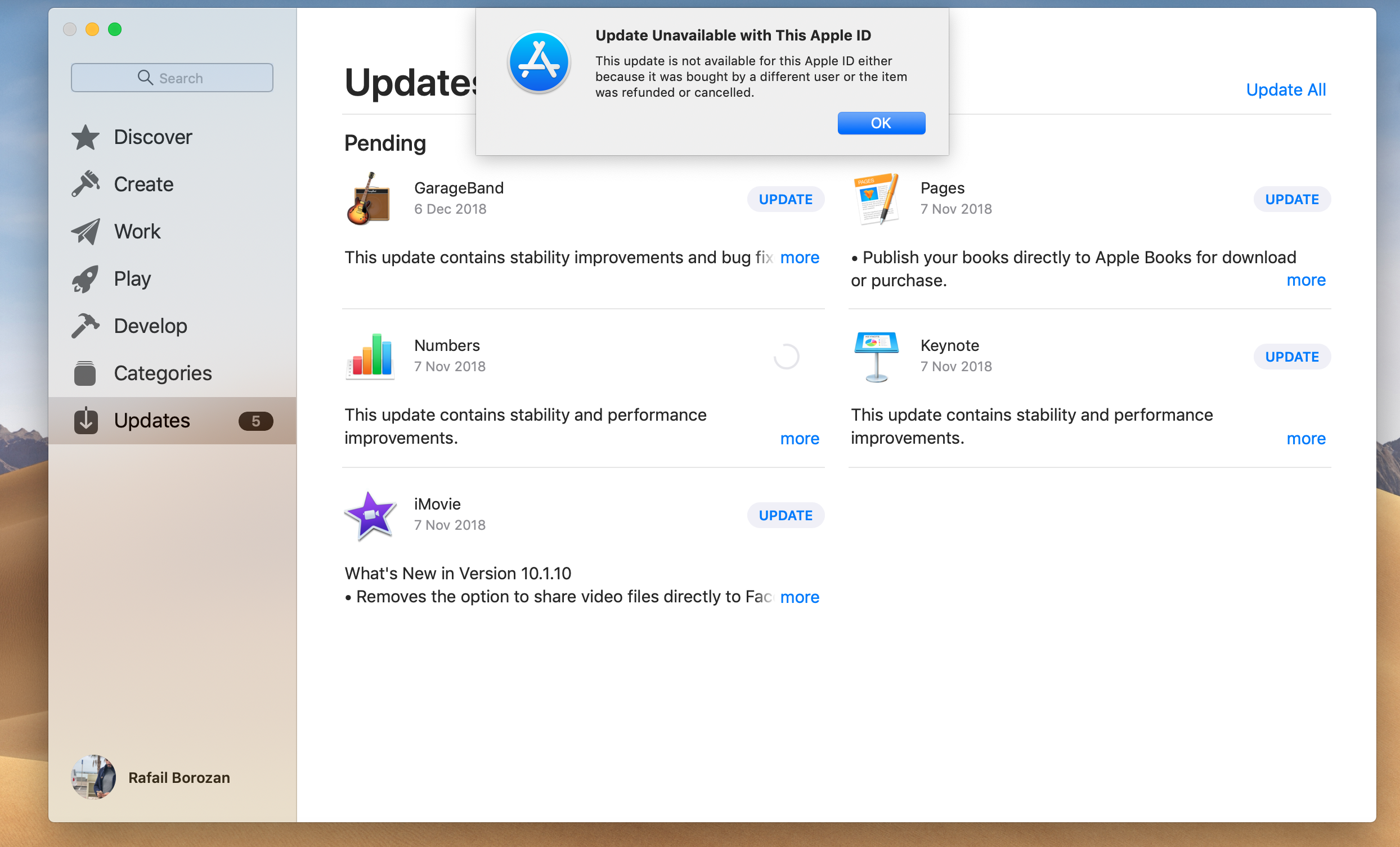can't update apps - Apple Community