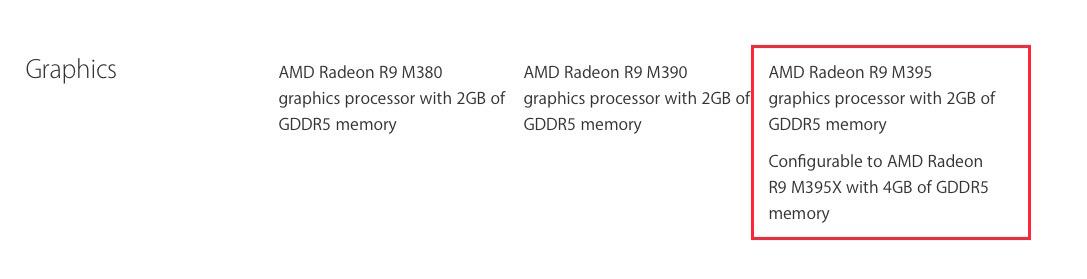 AMD Radeon R9 M395 or AMD Radeon R9 M395X? - Apple Community