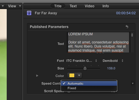 Slow down Far Far Away title in iMovie 10… - Apple Community