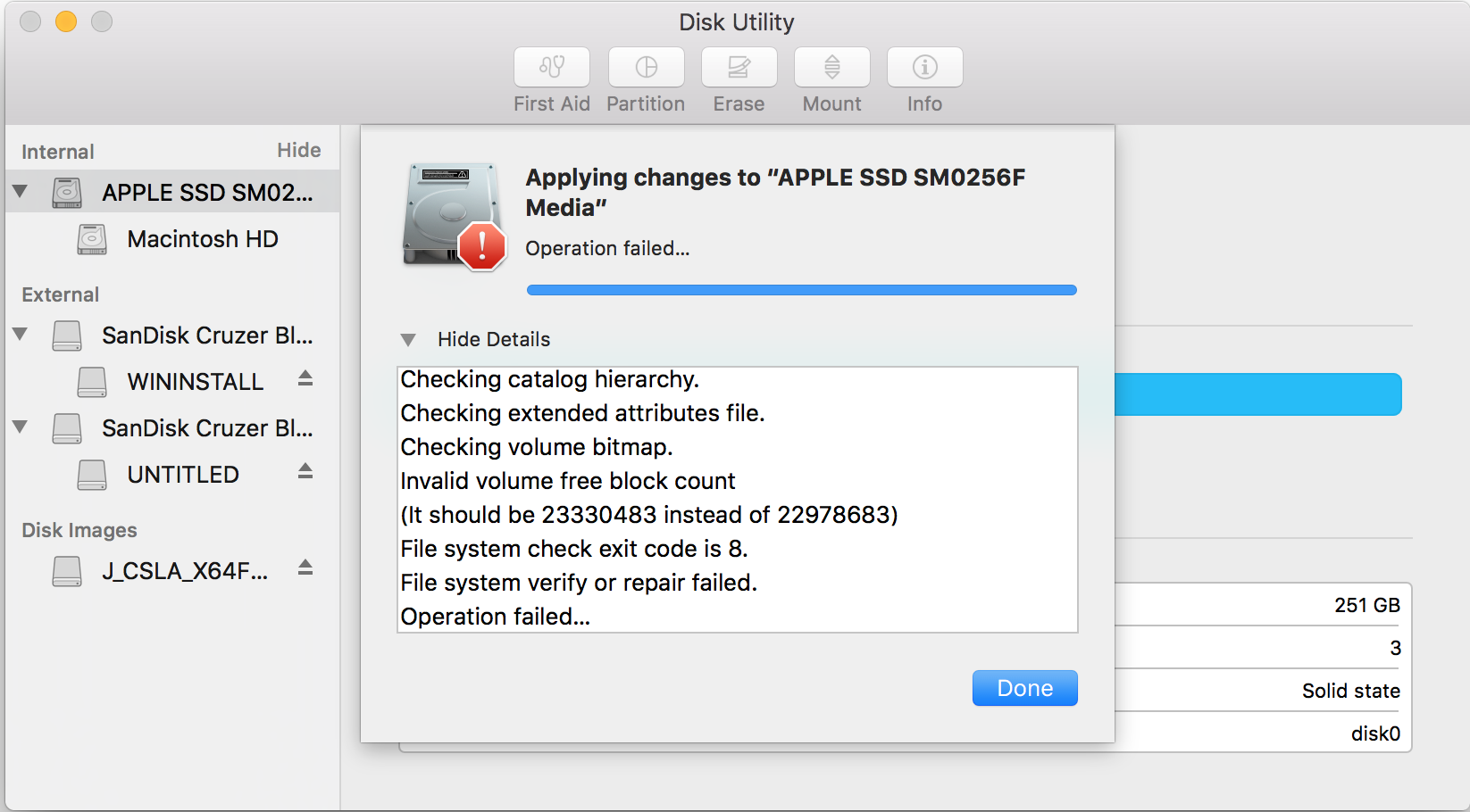 Disk utility cannot partition main drive … - Apple Community
