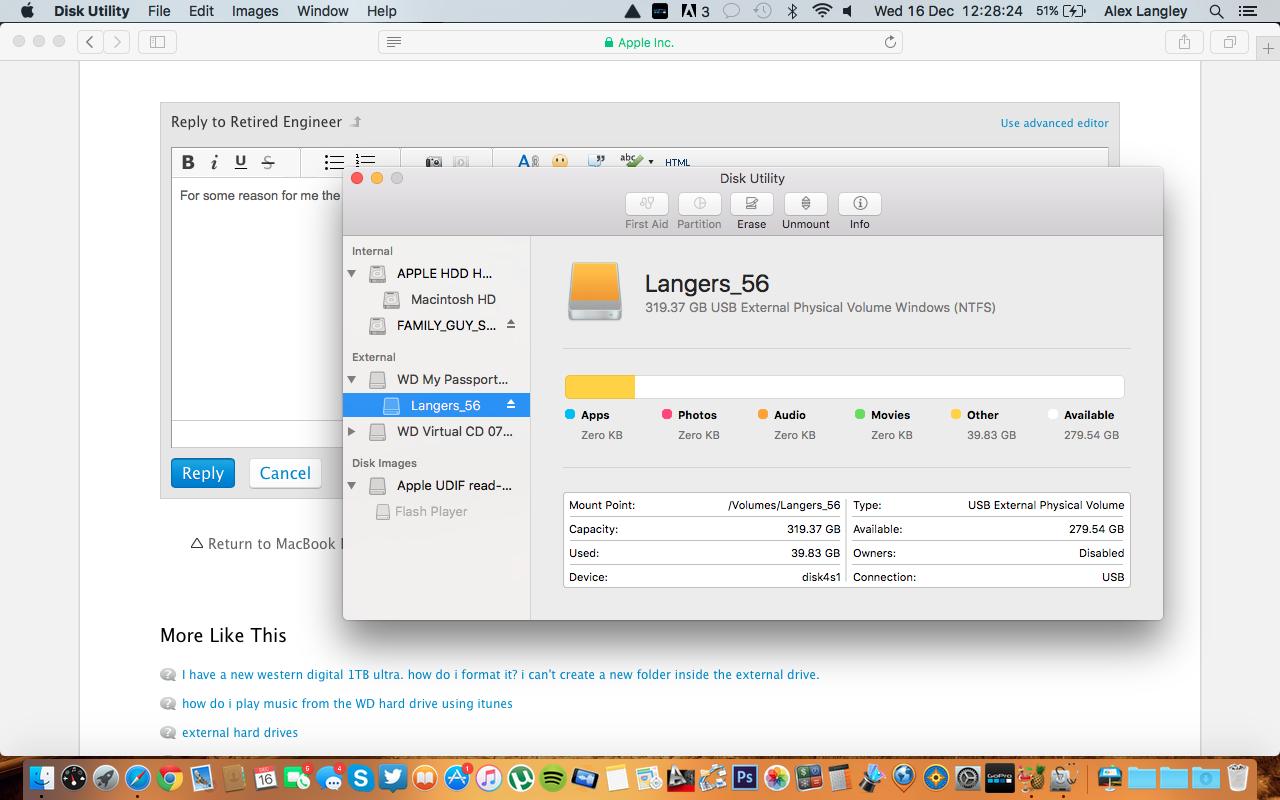 Can't create new folders in WD passpo… - Apple Community
