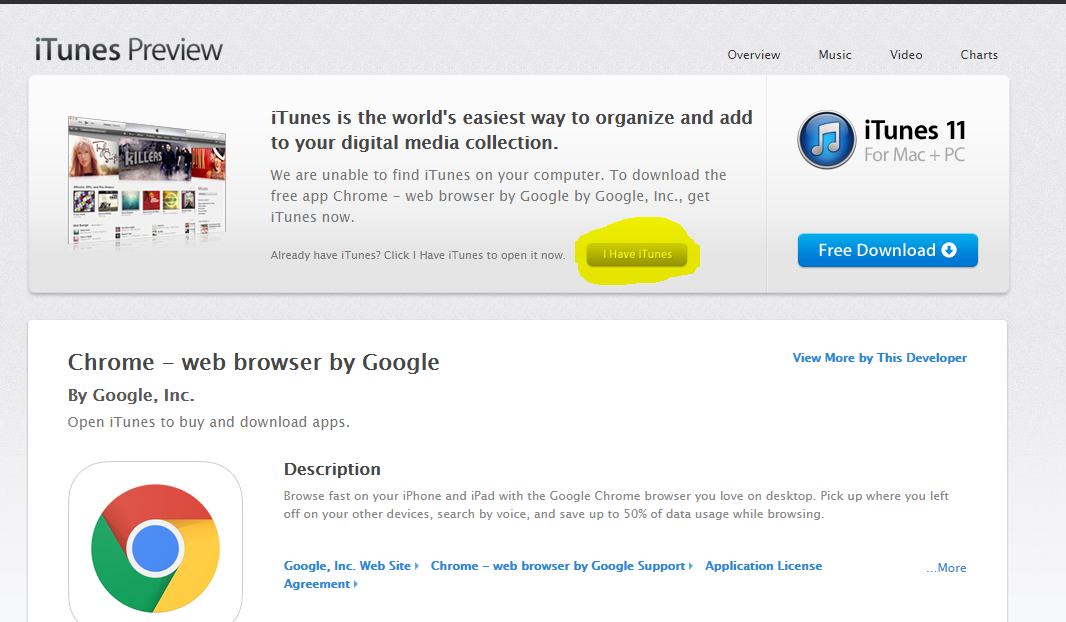 iTunes links won't open in Chrome Bro… - Apple Community