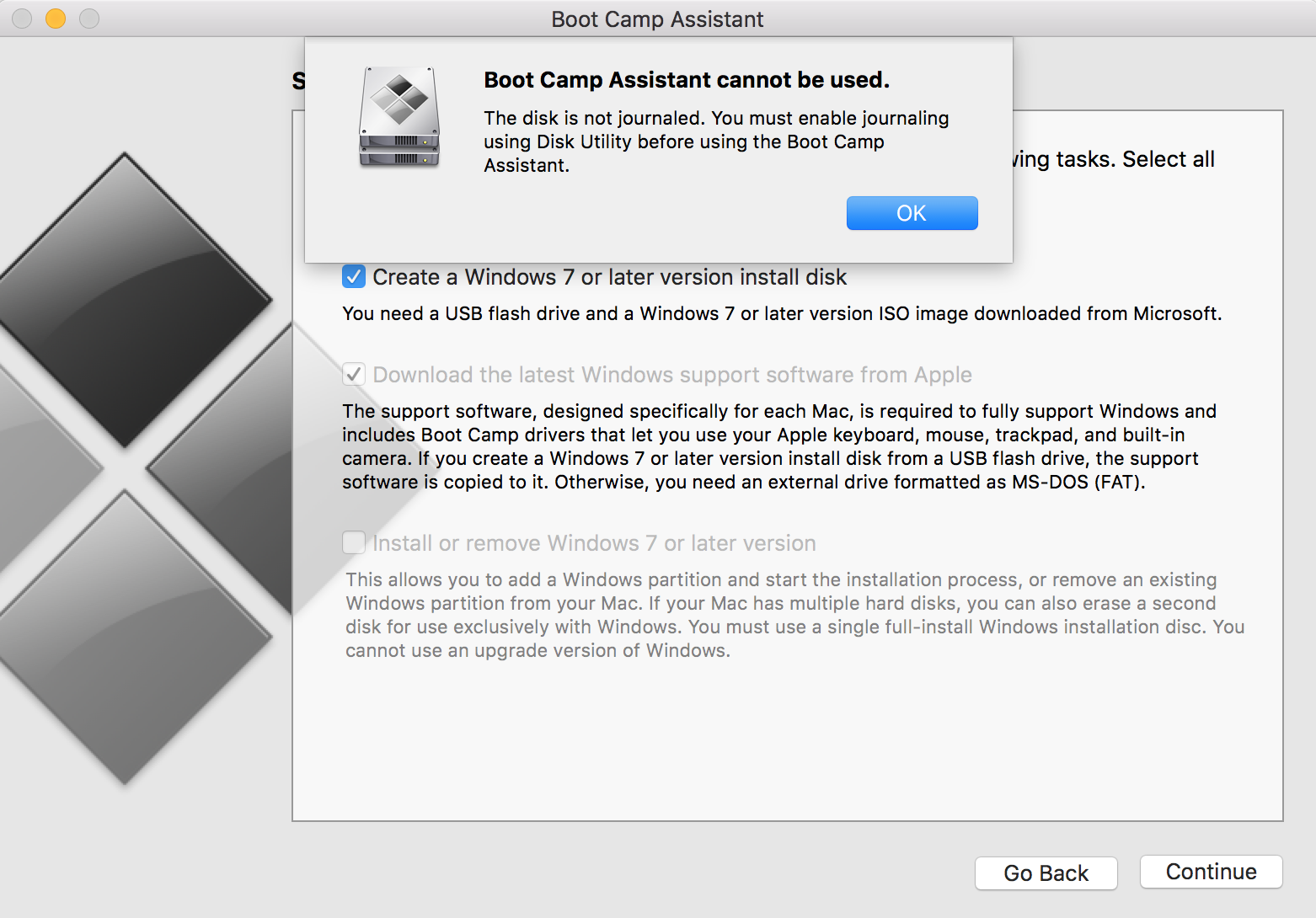 Boot Camp cannot be used - disk is not jo… - Apple Community