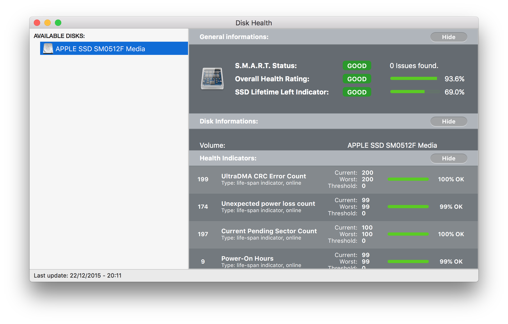 Remaining Life of SSD in my Macbook Pro i… - Apple Community