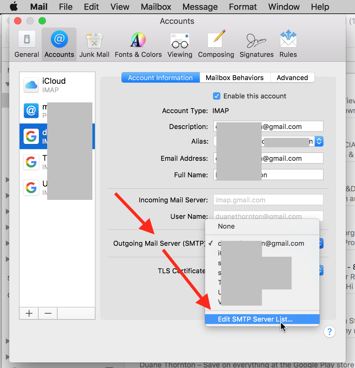 Setting up Gmail on Apple Mail - Apple Community