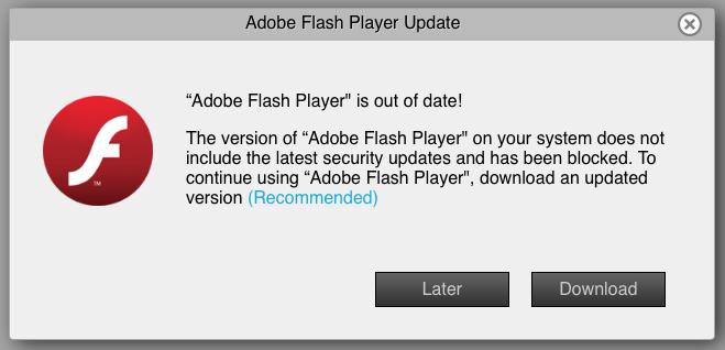 "Beware bogus Adobe Flash """