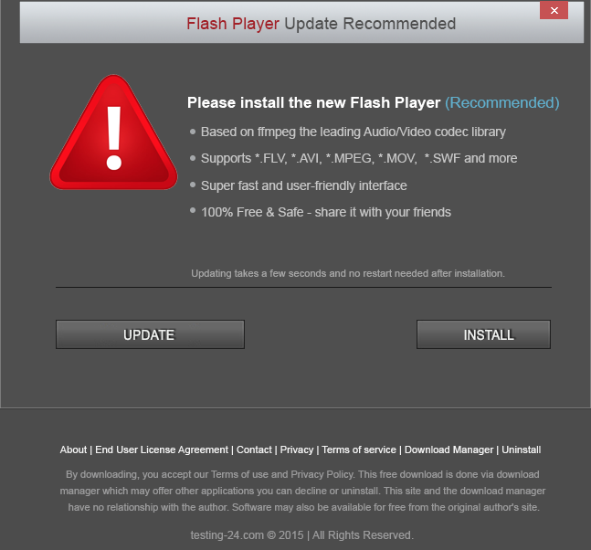 Beware bogus Adobe Flash ""
