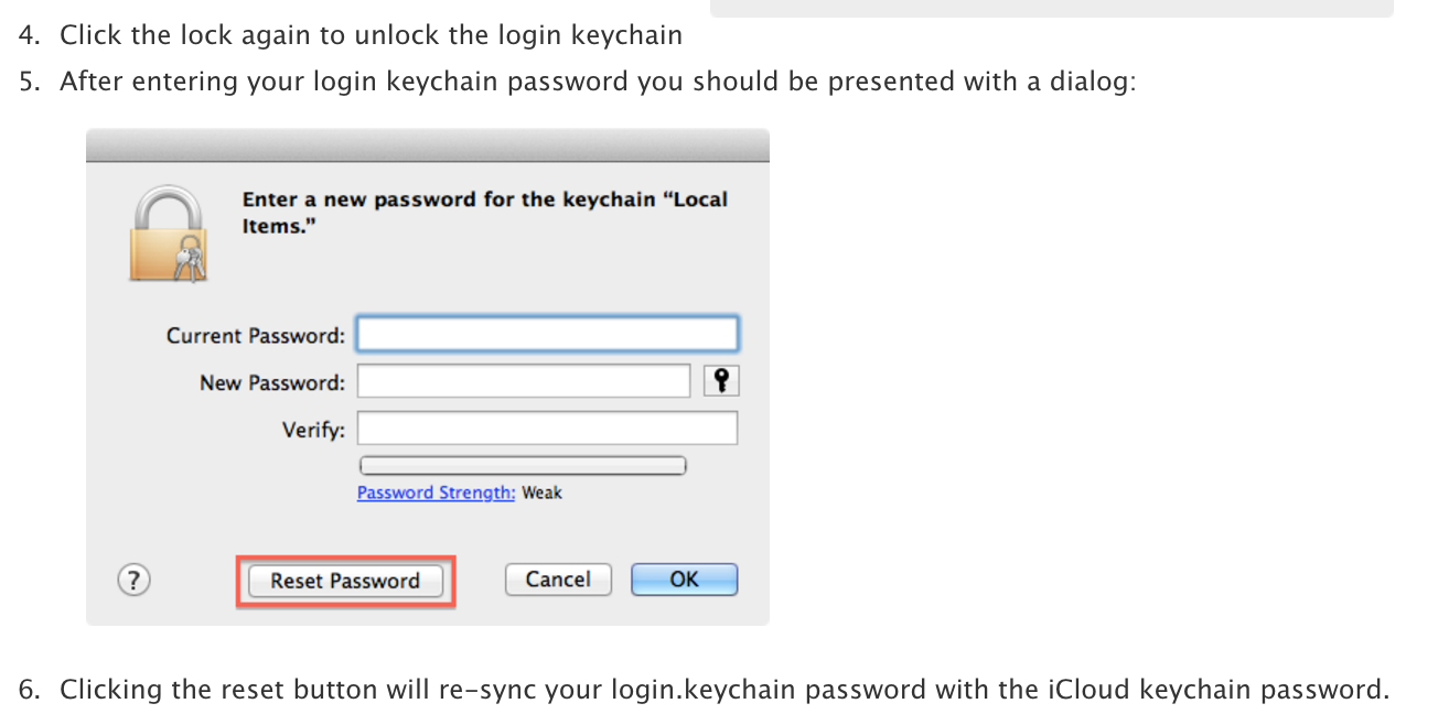 how to reset your login keychain