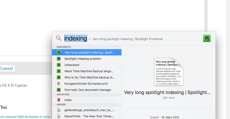 Check Spotlight progress? - Apple Community