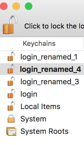 mac merge keychains
