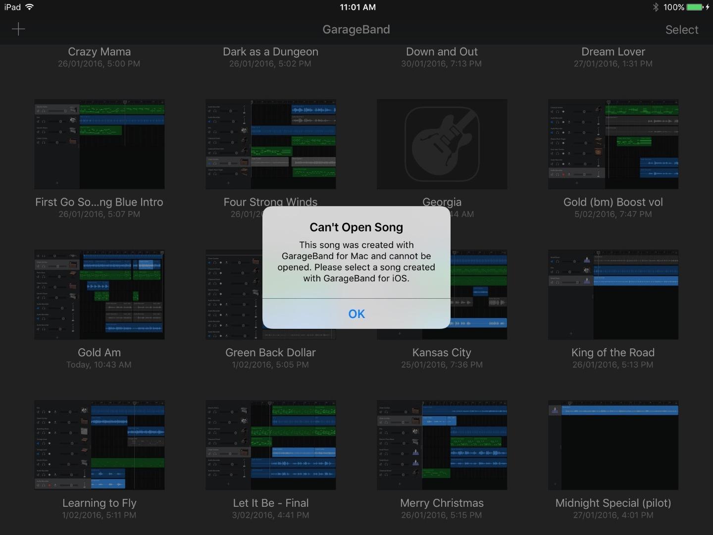 can you import midi files into garageband ipad