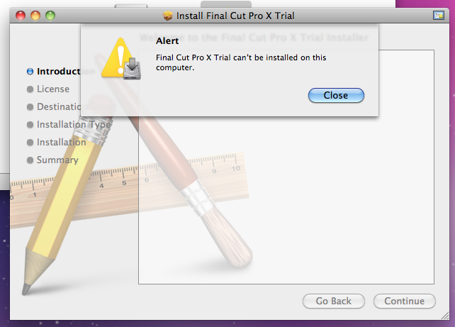 Final Cut Pro Can't Be Installed… - Apple Community