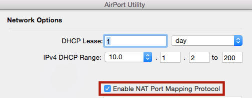 how do I enable NAT-PMP (NAT Port Mapping… - Apple Community