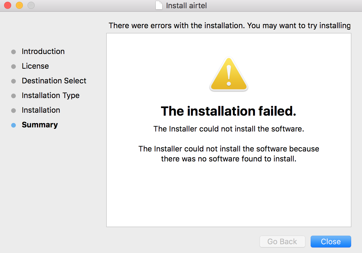 The installer could not install the softw… - Apple Community