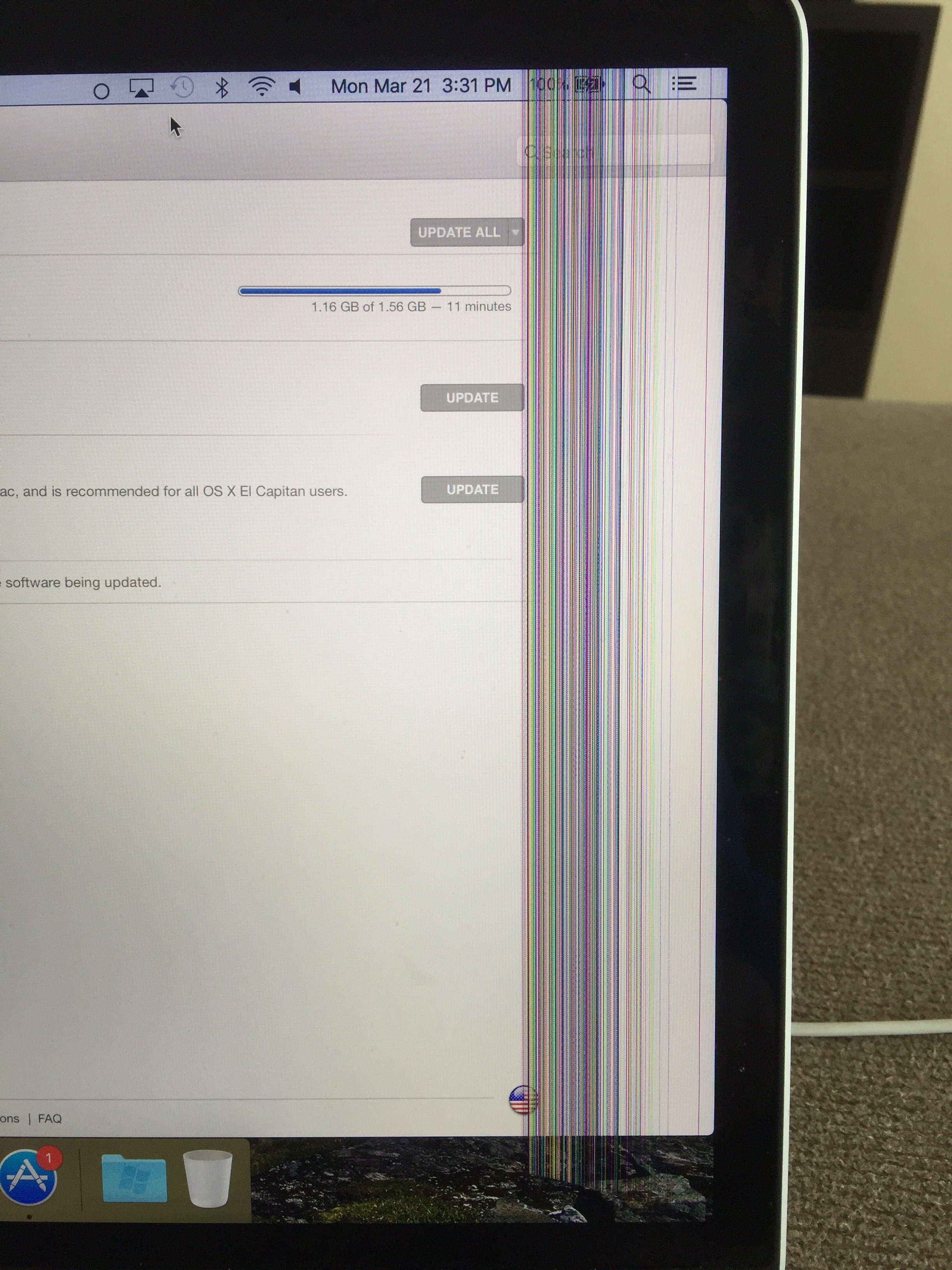 horrible vertical lines early 2013 retina… - Apple Community