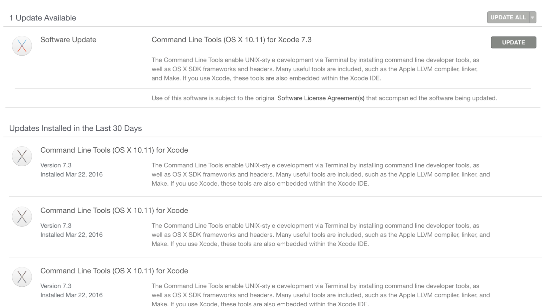 10 11 4 update failed because of Command … - Apple Community
