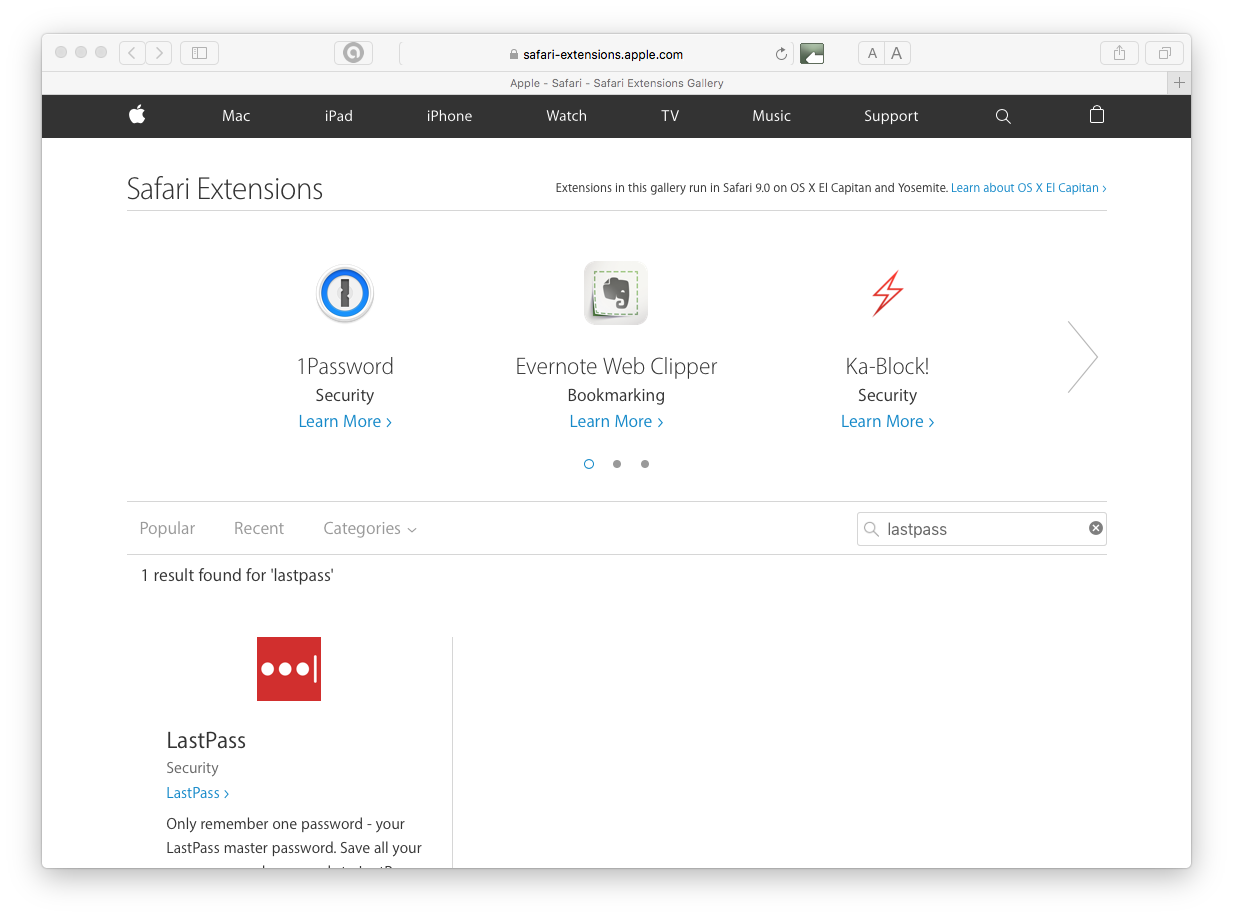 Safari can't install this extension - Apple Community