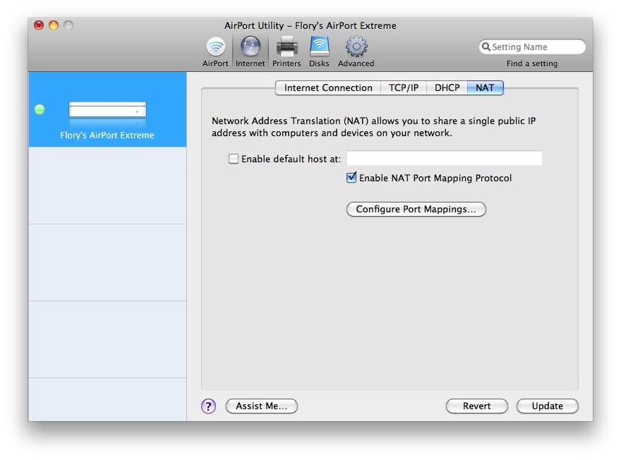 Port Forwarding on AirPort Extreme 5thGen - Apple Community