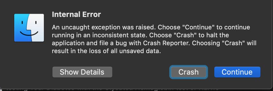 Finder Find Command - Internal Server Err… - Apple Community