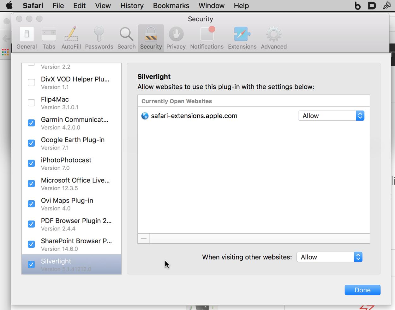 silverlight on MacBook Pro 10 10 5 - Apple Community