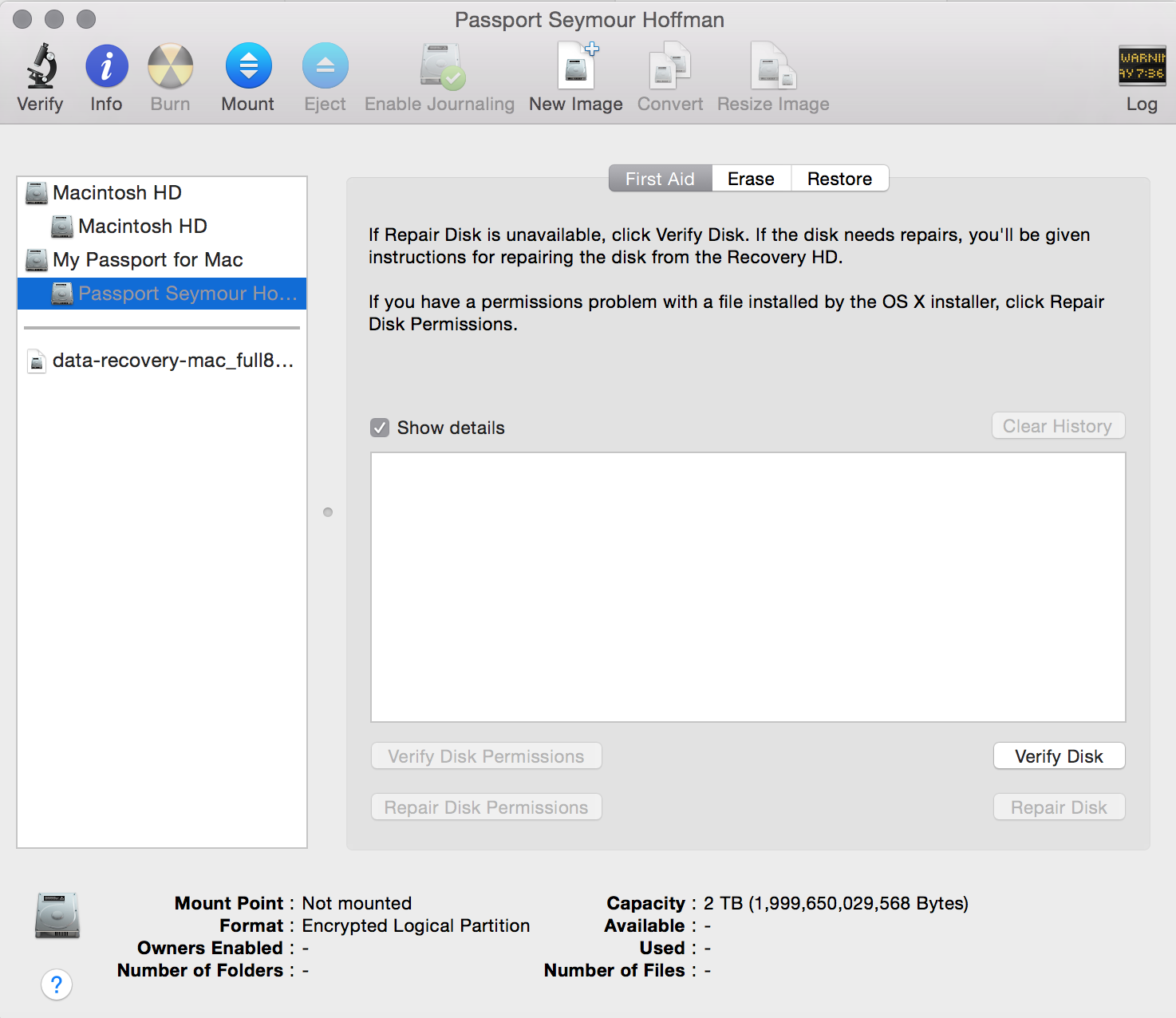 WD External Hard Drive not mounting after… - Apple Community