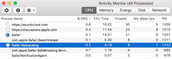 Safari Networking Process causes overheat - Apple Community
