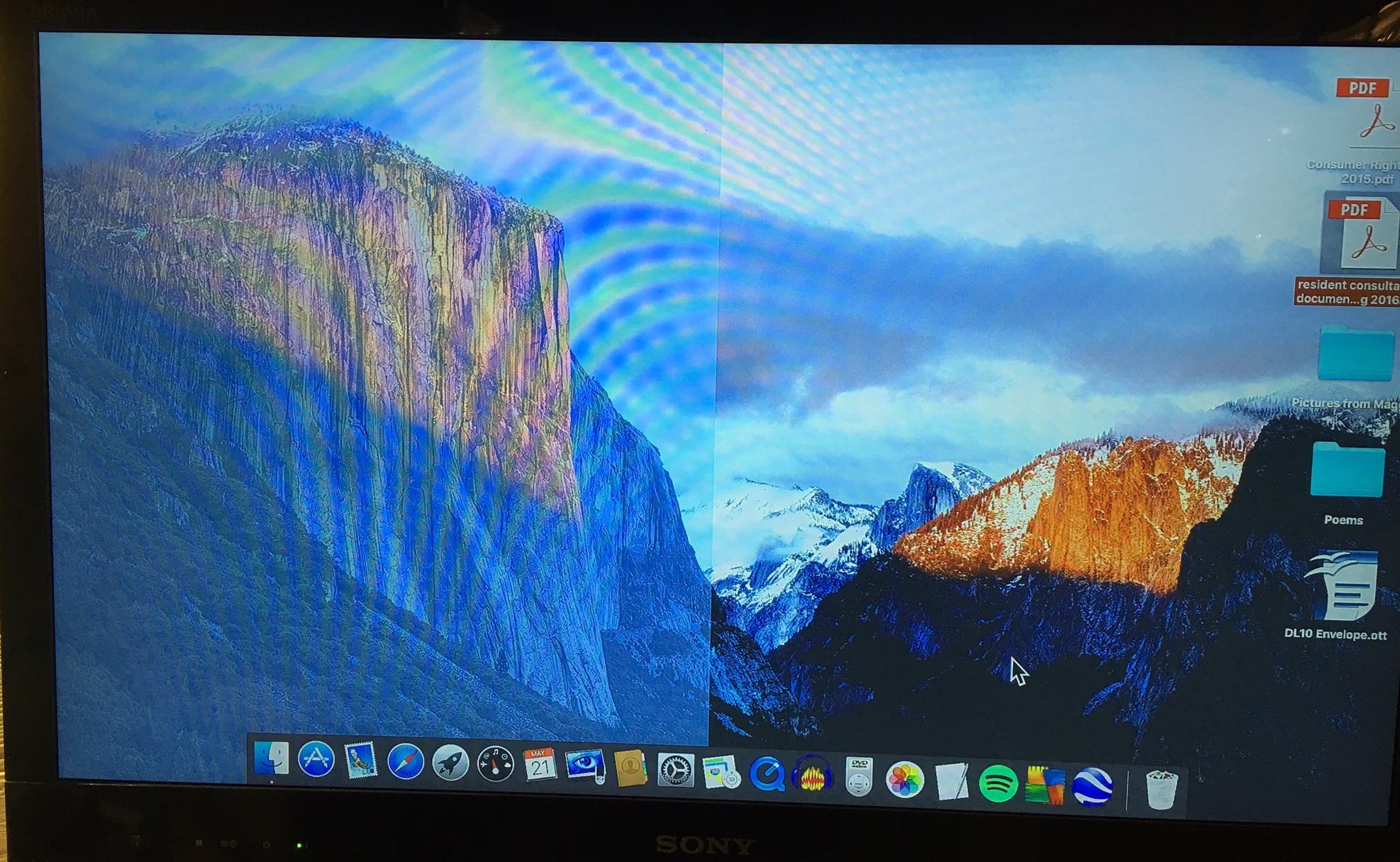 My Desktop Is Half Split One Side Opaque Apple Community