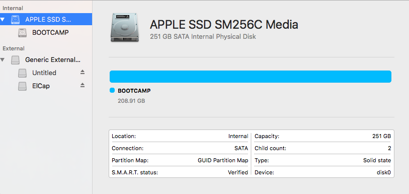 Ill-fated attempt to expand Boot Camp par… - Apple Community
