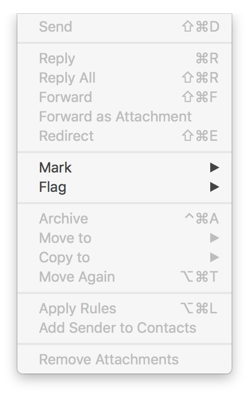 Mail El Capitan menus greyed out after Mi… - Apple Community