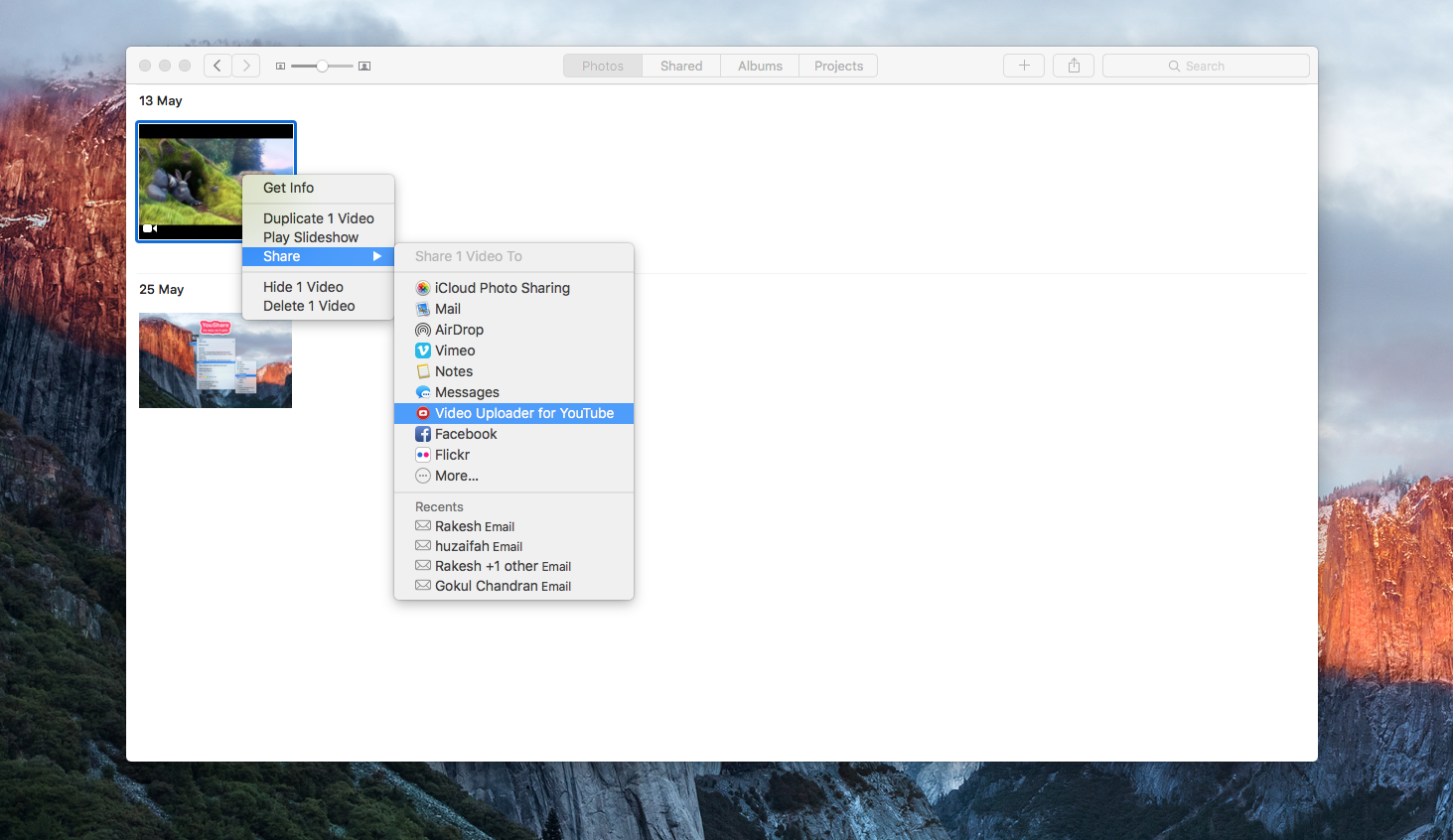 How do I upload to YouTube from Photos fo… - Apple Community