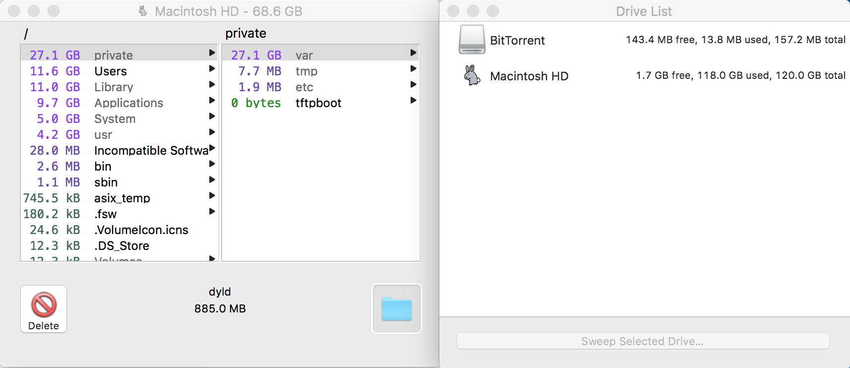 Disk space does not add up after using Om… - Apple Community