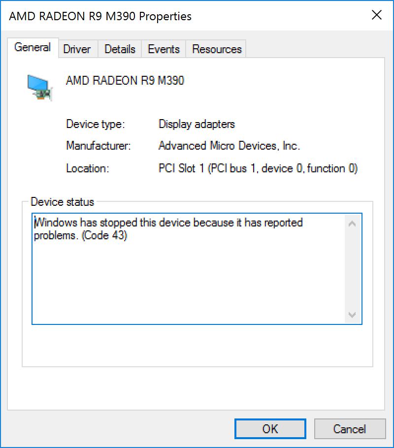 AMD Radeon R9 M390 Driver issues on Windo… - Apple Community