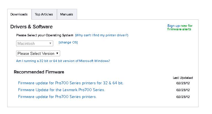 lexmark printer drivers for mac 10.11.6