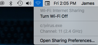 exclamation point in wifi symbol - Apple Community