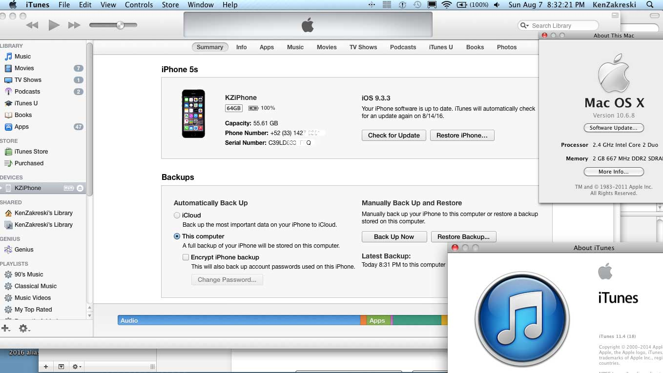 itunes mac os x version 10.6.8