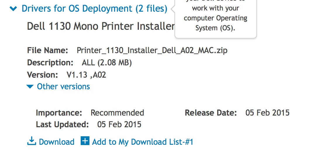 How can I use my Dell printer 1100 with m… - Apple Community
