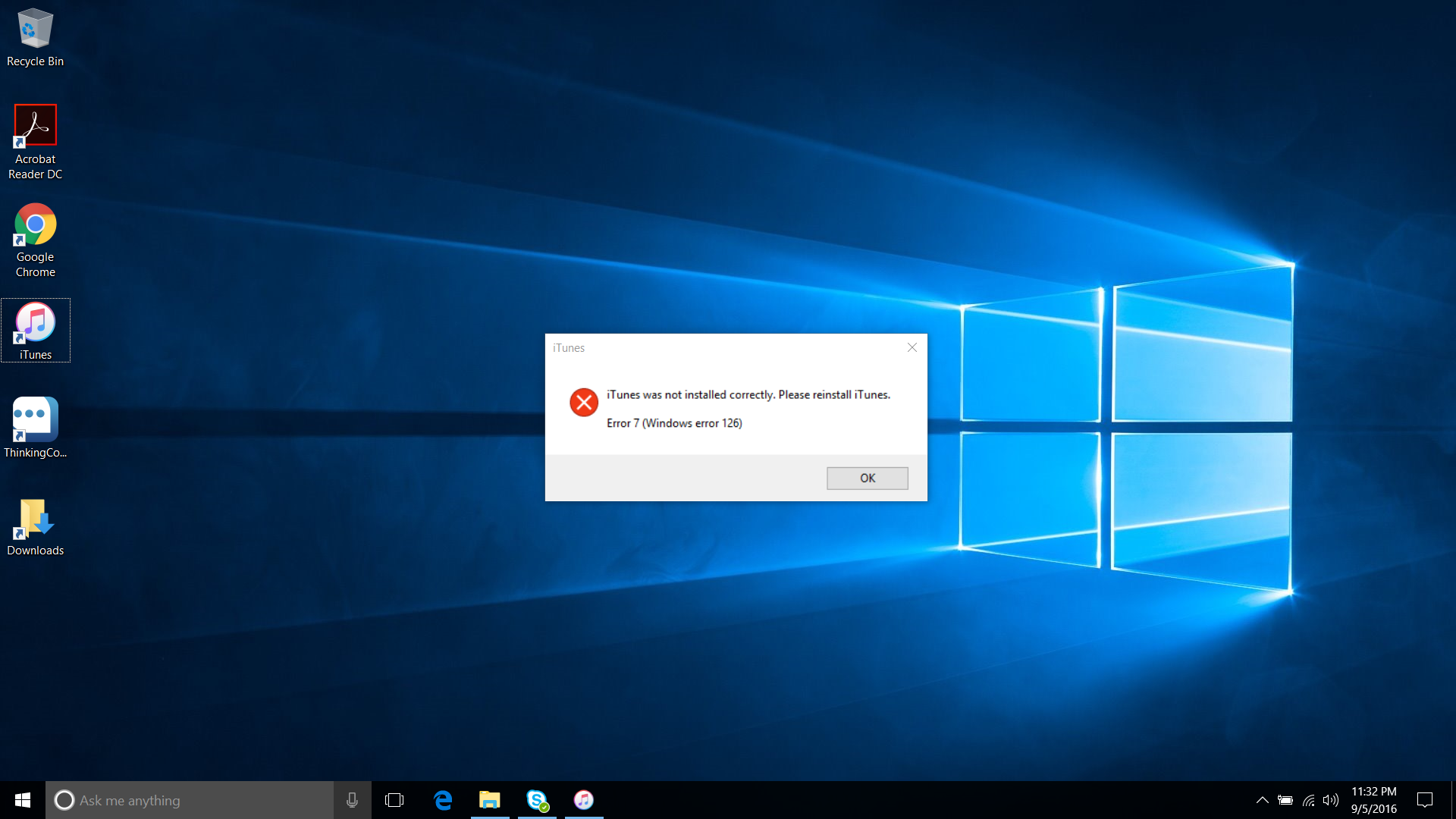 Windows 10 Please reinstall itunes error … - Apple Community