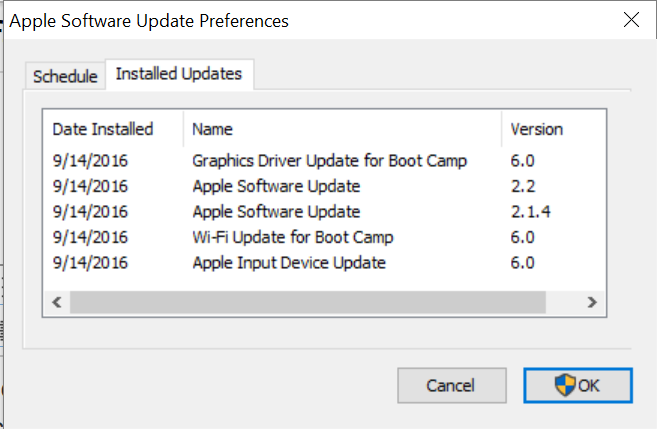 apple software update boot camp 6