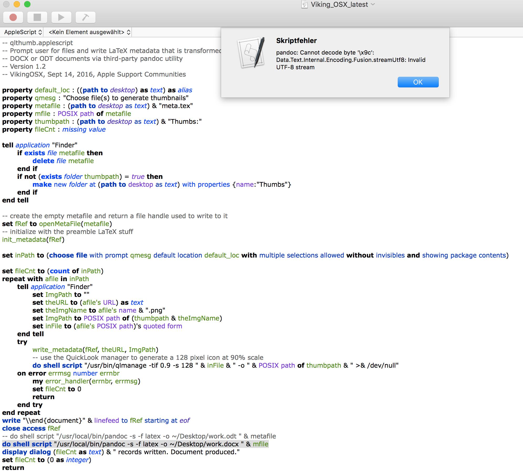 AppleScript to create thumbnail of select… - Apple Community