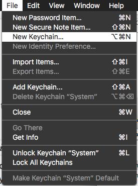 reset my default keychain