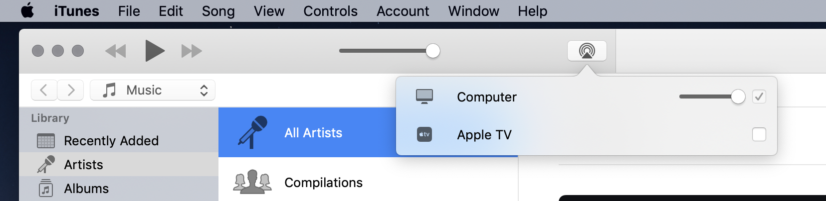 ITunes AirPlay - Apple Community