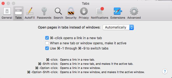 firefox mac command click new tab