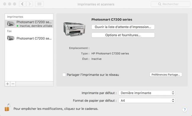 hp c7280 no scan options mac